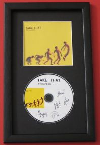 TAKE THAT - PROGRESS CD DISC MEMORABILIA presentation